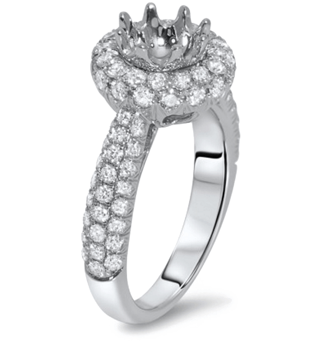 pave engagement ring - Types Of Wedding Rings