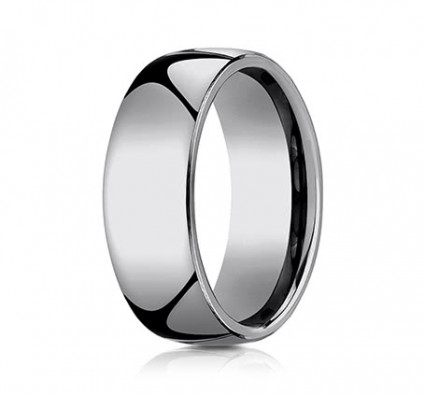8mm Rounded Tungsten Ring With High Polish | ACF180TG