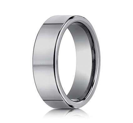 7mm Tungsten Ring With Flat High Polished Surface | ACF270TG