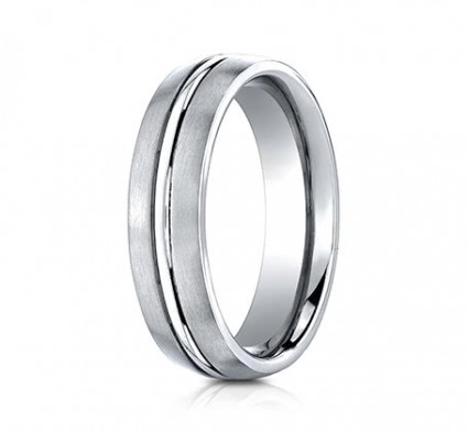 6mm Cobalt Ring With Satin Finish & High Polished Center | ACF56411CC