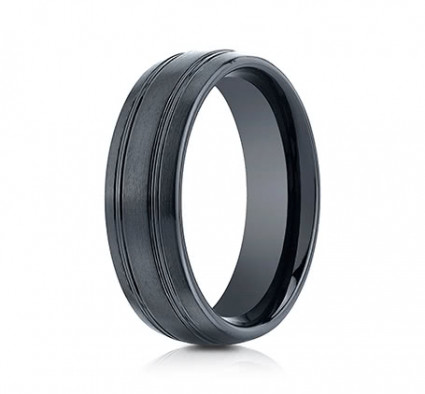 7mm Ceramic Ring With Satin Finish & Beveled Edges | ACF57444CM