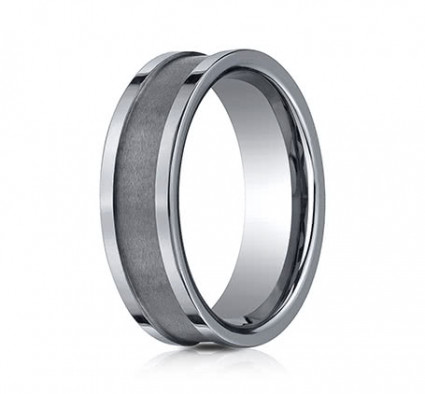 7mm Tungsten Ring With High Polished Flat Edge | ACF67450TG