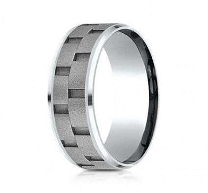 8mm Cobalt Brick Set Ring | ACF68943CC