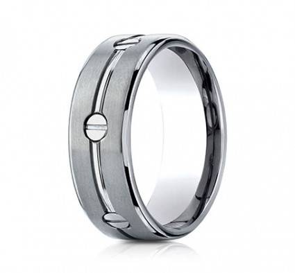 8mm Titanium Ring With Screw Designs | ATICF68991T