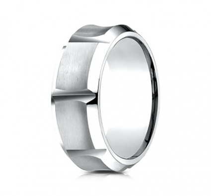 9mm Cobalt Ring WithConcave Sections | ACF69479CC