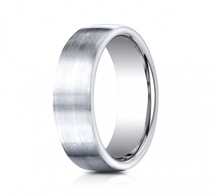 7.5mm Cobalt Ring With Satin Finish With Rounded Edges | ACF717561CC