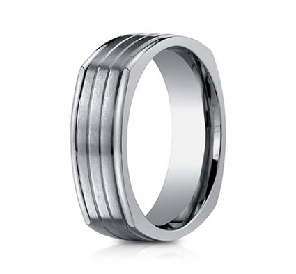 7mm Titanium Four Sided Ring | ATICF77334T