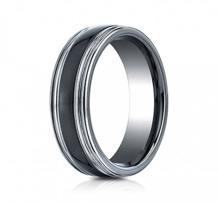 7mm Tungsten Ring With Ceramic Inlay | ARECF77863CMTG