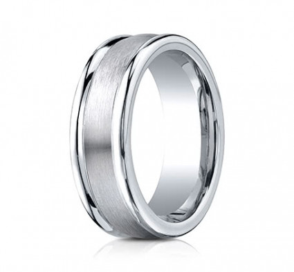 8mm Cobalt Ring With Satin Finish & High Polish | ARECF78022SCC