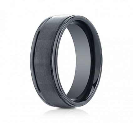 8mm Ceramic Ring With Satin Finish & High Polished Eges | ARECF7802SCM
