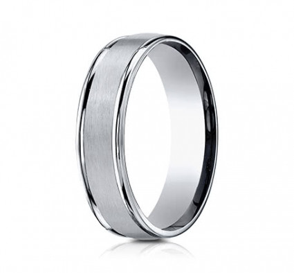 6mm Titanium Ring With Satin Finish & High Polished Eges | ATI561T