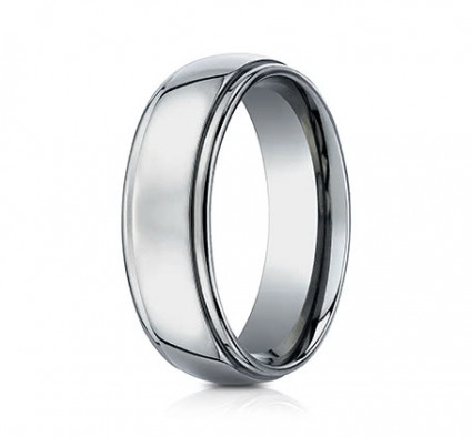 7mm Titanium Ring With High Polish | ATI570T