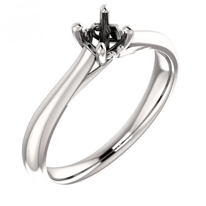 Platinum Solitaire Antique Engagement Ring Mounting | AP122455.0PLT