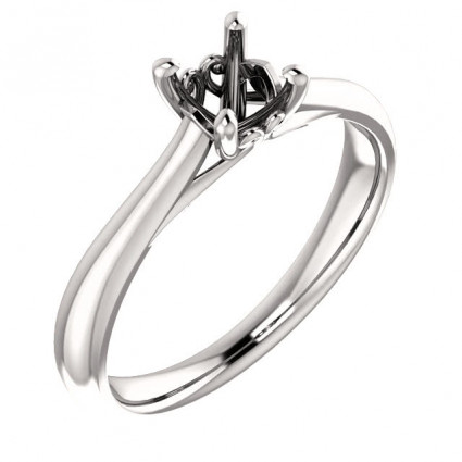 18kt White Gold Antique Solitaire Engagement Ring | AW122455.018