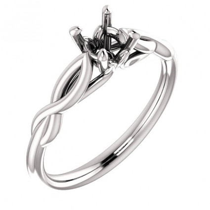 18kt White Gold Infinity Solitaire Engagement Ring | AW122705.018
