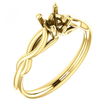 18kt Yellow Gold Infinity Solitaire Engagement Ring | AY122705.018