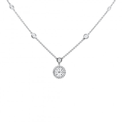 Illusion Halo Diamond Pendant 0.47ct | AN14-004