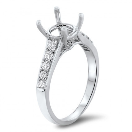 Cathedral Engagement Ring for 2.5 ct Center Stone | AR14-024