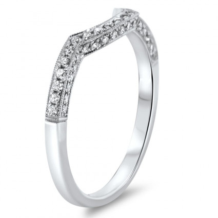 Milgrain Wedding Band 0.24ct | AR14-246