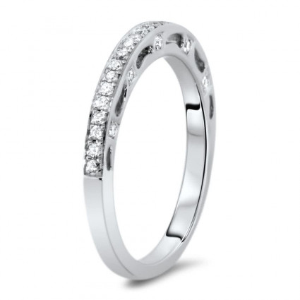 Micro Pave Vintage Wedding Band 0.24ct | AR14-238