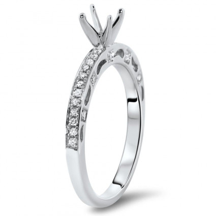 Classic Engagement Ring for 0.5 ct Center Stone | AR14-008