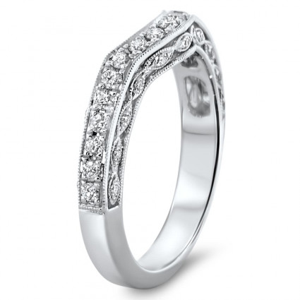Shadow Milgrain Matching Wedding Band 0.39ct | AR14-242