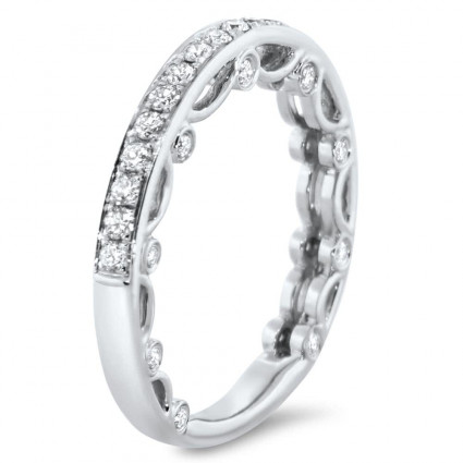 Micro Pave Modern Wedding Band 0.49ct | AR14-232