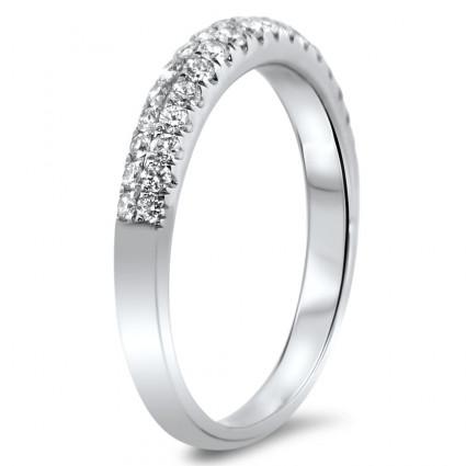 Double Row Diamond Wedding Band 0.42ct | AR14-233