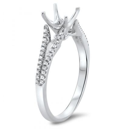 Split Shank Engagement Ring for 3/4 ct Center Stone   AR14-097