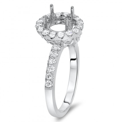 Classical Round Halo Engagement Ring for 1 Carat Stone | AR14-191