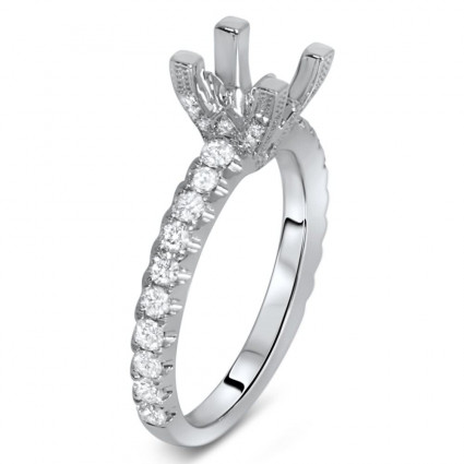 Engagement Ring - Semi Mount for 1.00ct Center Stone 0.57ct