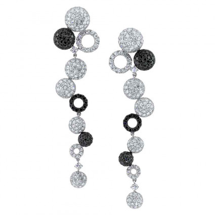 Black & White Diamond Earrings 9.28ct | AE14-010