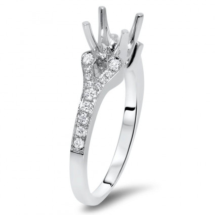 Cathedral Engagement Ring for 1.5 ct Center Stone   AR14-092