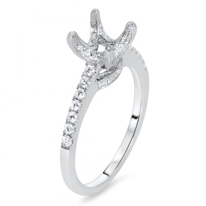 Micro Pave Split Shank Engagement Ring for 1 ct Stone | AR14-209