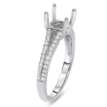 Split Shank Engagement Ring for 1 ct Center Stone | AR14-034
