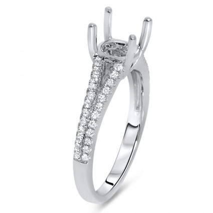 Split Shank Engagement Ring for 1.5 ct Center Stone | AR14-119