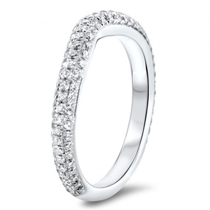 Shadow Pave Wedding Band 0.65ct | AR14-254