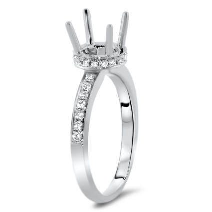 Side Halo Engagement Ring for 1.5 ct Stone | AR14-010