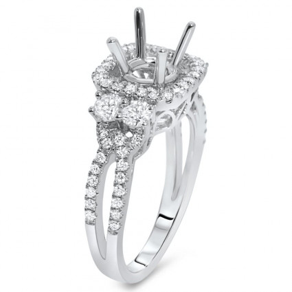 Halo Engagement Ring for 1 Carat Stone | AR14-141