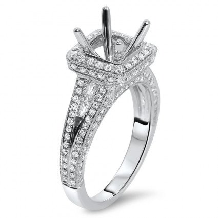 Square Halo Engagement Ring for 1.25ct Center Stone | AR14-199