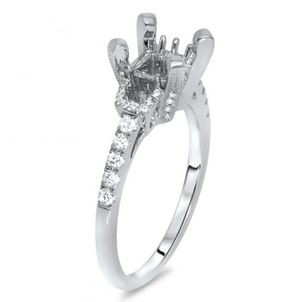Past Present Future Engagement Ring for 1 ct Stone | AR14-208