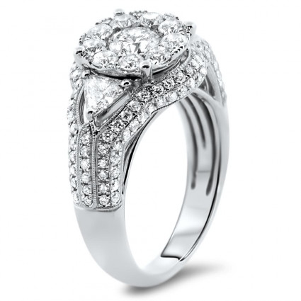 Illusion Engagement Ring 2.2 ct | AR14-004