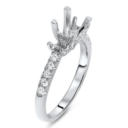 Square Past Present Future Engagement Ring for 1.25 Carat Stone | AR14-038