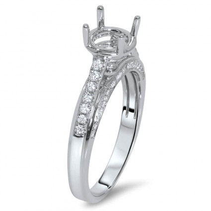 Cathedral Round Engagement Ring for 1 Carat Stone | AR14-058