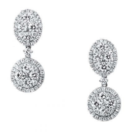 Illusion Halos Head Diamond Earrings 2.27ct | AE14-006