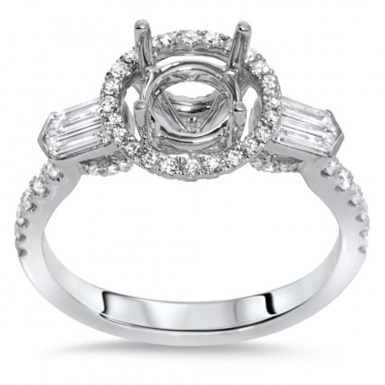 Past Present Future Halo Engagement Ring for 1.5 ct Stone | AR14-227