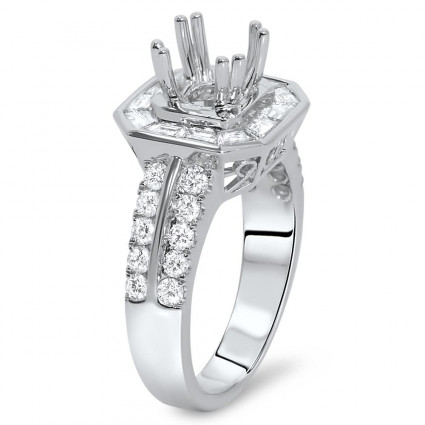 Halo Engagement Ring for 1.5 ct Stone | AR14-196