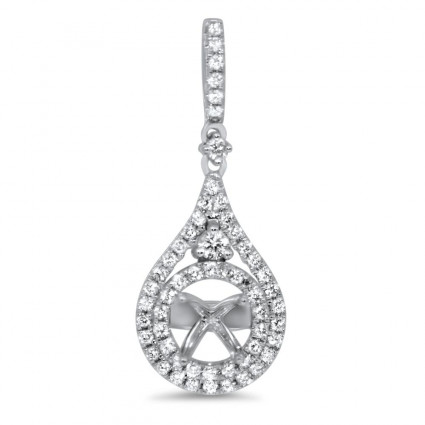 Micro Pave Diamond Pendant for 0.39ct Stone | AN14-001