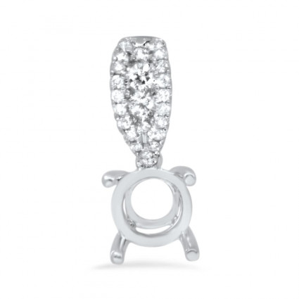 Diamond Bail Micro Pave Pendant for 1ct Stone | AN14-002