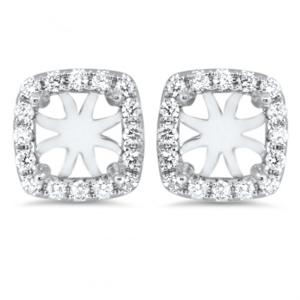 Cushion Halo Earrings for 0.75 ct Stone | AR14-261